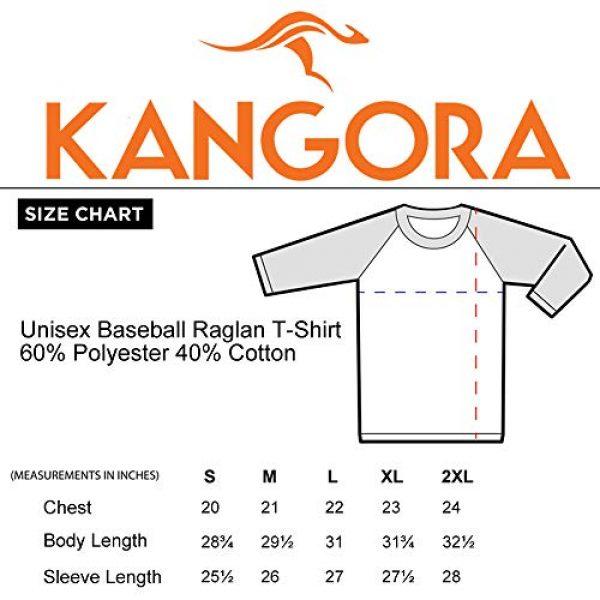 Kangora Graphic Tshirt 4 Mens Plain Raglan Baseball Tee T-Shirt Unisex 3/4 Sleeve Casual Athletic Performance Jersey Shirt