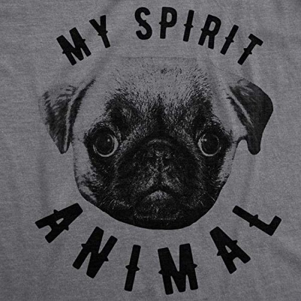 Crazy Dog T-Shirts Graphic Tshirt 2 Womens My Spirit Animal Pug T Shirt Funny Dog Mom Tee Cute for Her