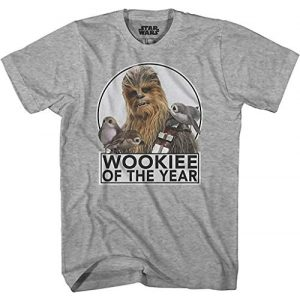 Star Wars Graphic Tshirt 1 Chewbacca Wookie of The Year Porgs T-Shirt