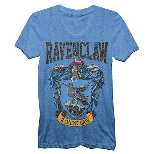 Harry Potter Graphic Tshirt 4 Ravenclaw House Juniors Glitter Blue T-shirt