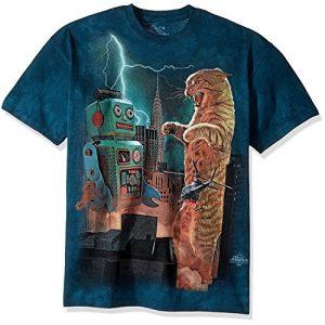 The Mountain Graphic Tshirt 1 Men's Catzilla Vs. Robot T-Shirt