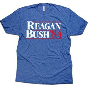 Vipergraphics Graphic Tshirt 1 Daft Threads Vintage Regan & Bush 84' Campaign T Shirt & Sticker