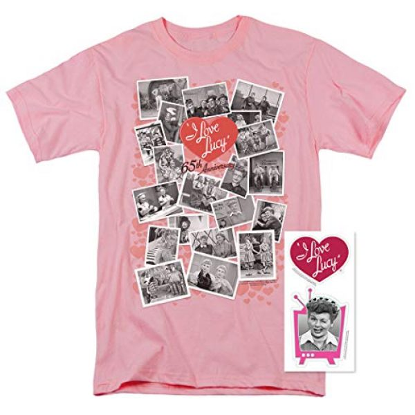 Popfunk Graphic Tshirt 2 I Love Lucy 65th Anniversary Collage T Shirt & Stickers