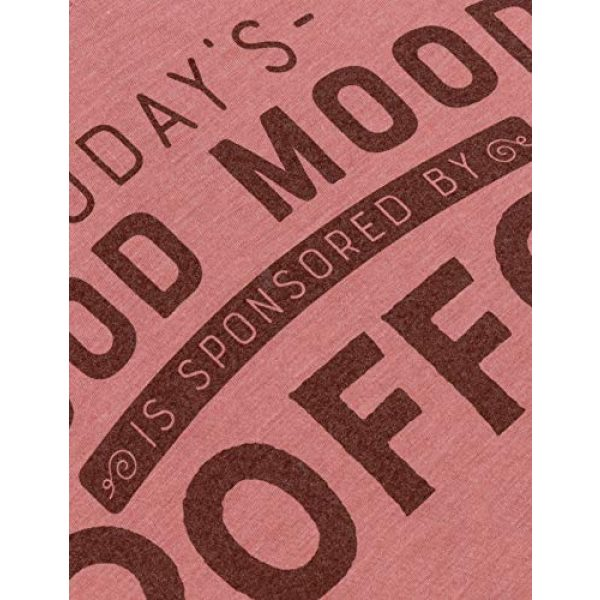 Ann Arbor T-shirt Co. Graphic Tshirt 5 Today's Good Mood is Sponsored by Coffee | Funny Cute Sarcastic Sassy Saying Women's V-Neck T-Shirt