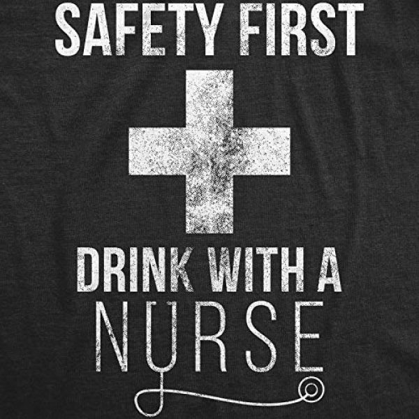 Crazy Dog T-Shirts Graphic Tshirt 2 Womens Safety First Drink with A Nurse T Shirt Funny Sarcastic Gift Appreciation