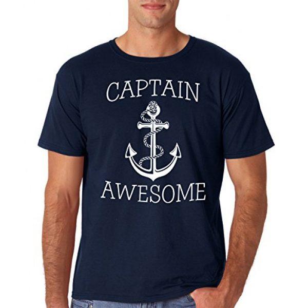 AW Fashions Graphic Tshirt 1 Captain Awesome - Fishing Boat Cool Fisherman Sailing Men's T-Shirt