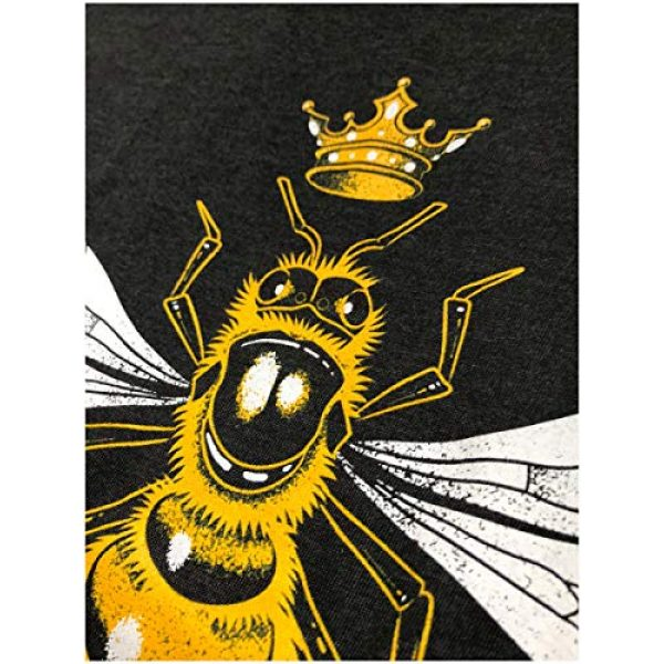 Ann Arbor T-shirt Co. Graphic Tshirt 5 Queen Bee | Funny, Cute, Cool Boss Lady Crown Alpha Top, Women's V-Neck T-Shirt