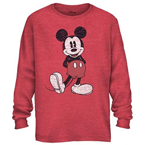 Disney Graphic Tshirt 1 Men's Mickey Mouse Pose Adult Graphic Long Sleeve Tee T-Shirt
