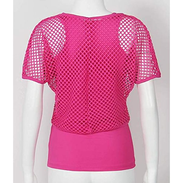 Smile Fish Graphic Tshirt 3 Women Casual Sexy 80s Costumes Fishnet Neon Off Shoulder T-Shirt