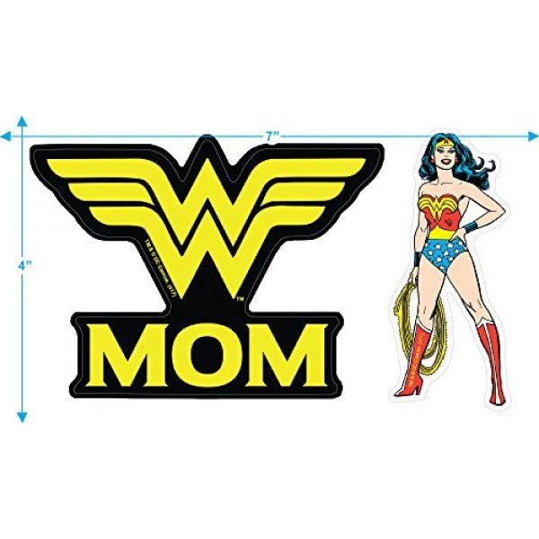 Popfunk Graphic Tshirt 3 Wonder Woman Wonder Mom DC Comics T Shirt & Stickers