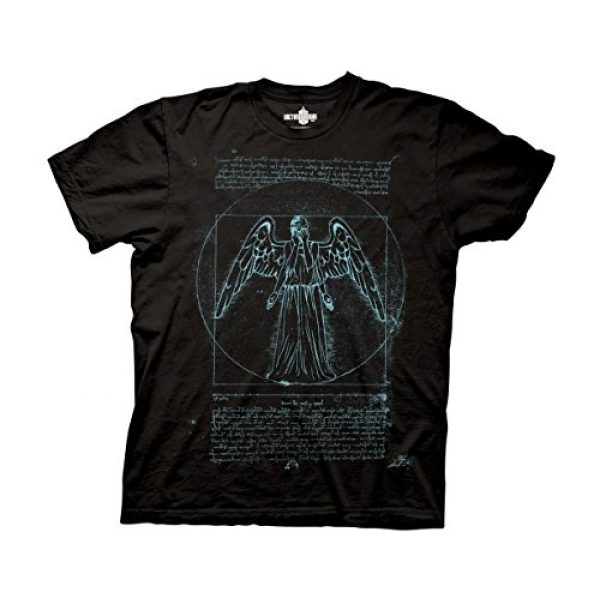 Ripple Junction Graphic Tshirt 1 Doctor Who Adult Unisex Vitruvian Angel Heavy Weight 100% Cotton Crew T-Shirt