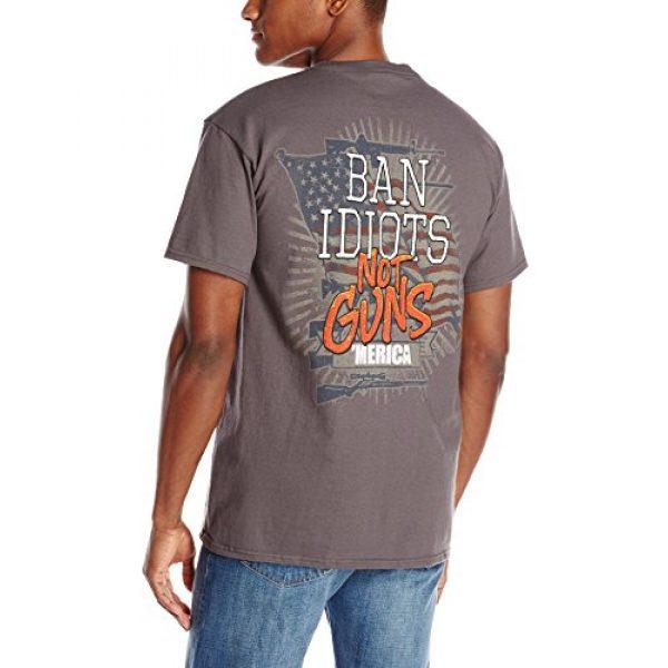 Buck Wear Inc Graphic Tshirt 2 Buck Wear Men's Ban Idiots not Guns 'Merica T-Shirt