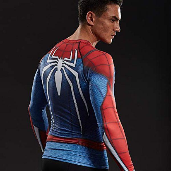 COOLMAX Graphic Tshirt 4 Raglan Sleeve Spiderman 3D Printed T Shirts Men Compression Shirts