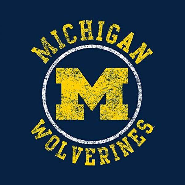 UGP Campus Apparel Graphic Tshirt 2 NCAA Distressed Circle Logo, Team Color T Shirt, College, University