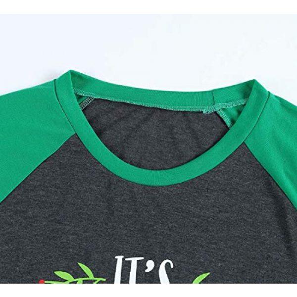 FAYALEQ Graphic Tshirt 3 Plus Size It's Christmas Y'all Baseball T-Shirt Women 3/4 Sleeve Raglan Holiday Tops