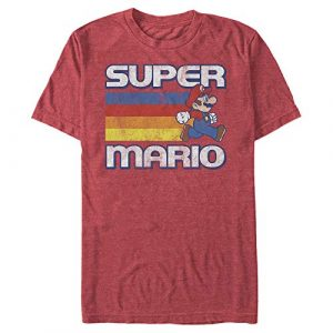Fifth Sun Graphic Tshirt 1 Men's Nintendo Super Mario Rainbow Stripes T-Shirt