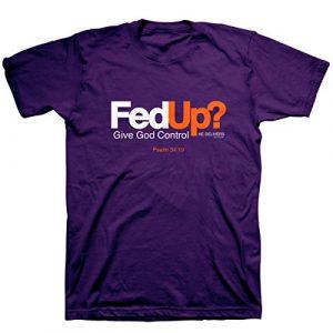 Kerusso Graphic Tshirt 1 Men's Fed Up T-Shirt - Purple -