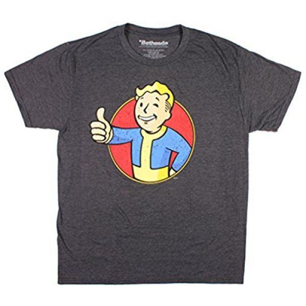 Fallout Graphic Tshirt 2 Vault Boy Logo Men's Green T-Shirt