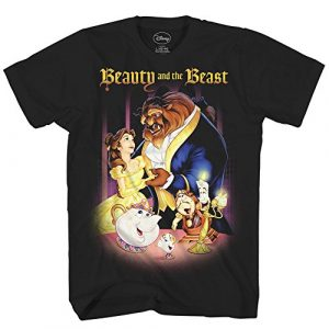 Disney Graphic Tshirt 1 Beauty and The Beast Belle Adult Mens Tee Graphic T-Shirt Apparel Black