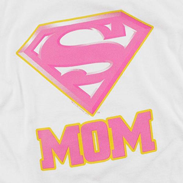 Popfunk Graphic Tshirt 5 Superman Super Mom Pink Logo DC Comics T Shirt & Stickers