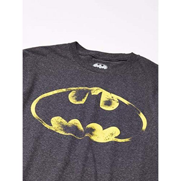 DC Comics Graphic Tshirt 2 Batman Logo Bat Signal Men's Charcoal Tee Shirt T-Shirt