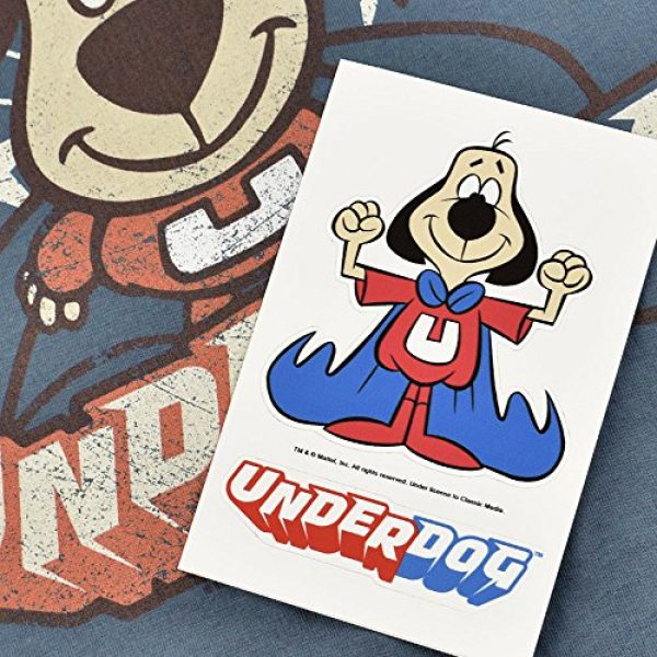 Popfunk Graphic Tshirt 6 Underdog Flying Logo Retro Cartoon T Shirt & Stickers