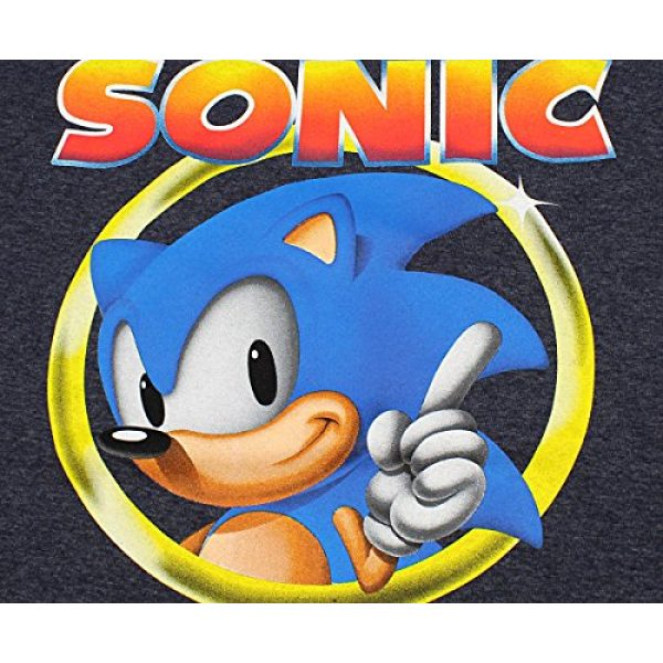 Bioworld Graphic Tshirt 2 Sonic The Hedgehog Shirt Mens Golden Ring Logo Football Tee