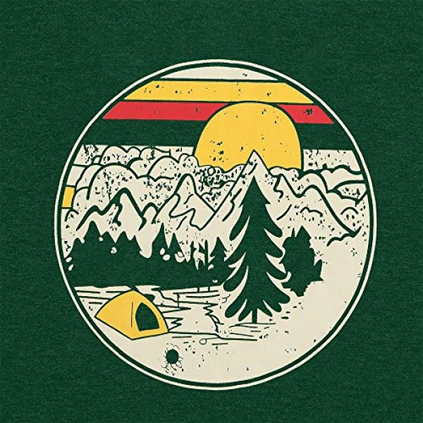 GEMLON Graphic Tshirt 2 Women Mountain Sunset T-Shirt Graphic Camping Hiking Shirt Vintage Tees Short Sleeve Tee Tops