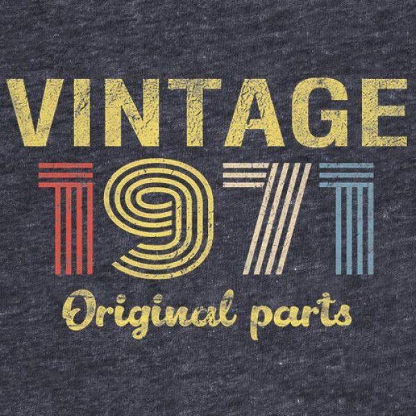ShirtInvaders Graphic Tshirt 2 50th Birthday Gift Shirt - Retro Birthday - Vintage 1971 Original Parts