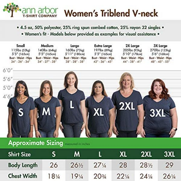 Ann Arbor T-shirt Co. Graphic Tshirt 6 Rosie The Riveter, We Can Do It | Feminist Rosey Rosy V-Neck T-Shirt for Women