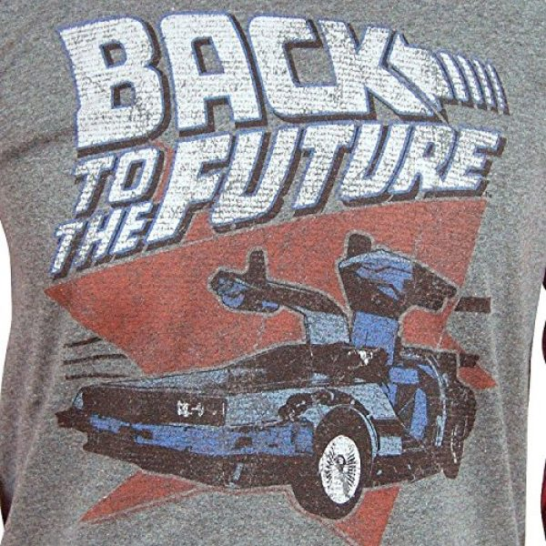 American Classics Graphic Tshirt 2 Back to The Future Red and Blue Adult Soft Raglan T-Shirt