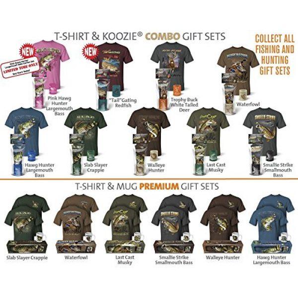 Follow the Action Graphic Tshirt 5 Walleye Hunter Fishing T-Shirt and Mug Premium Gift Set