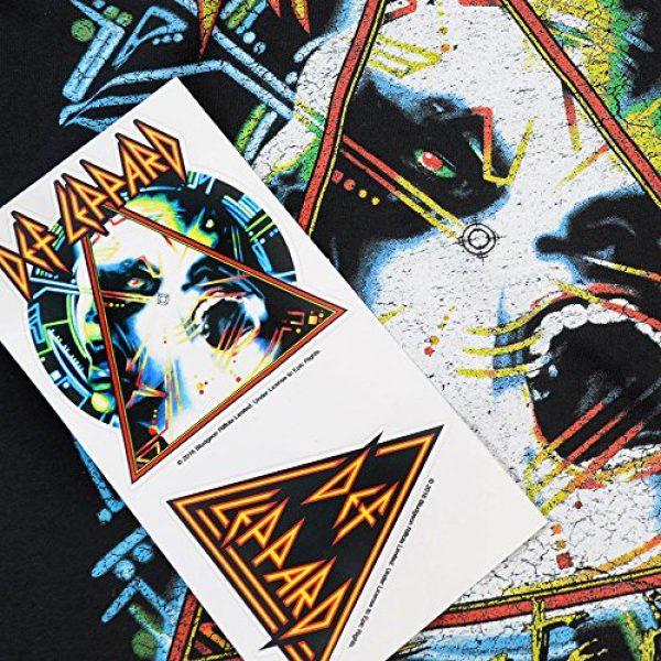 Popfunk Graphic Tshirt 6 Def Leppard Hysteria 80s Rock Album T Shirt & Stickers
