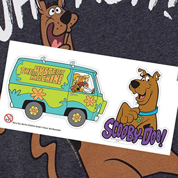 Popfunk Graphic Tshirt 6 Scooby-Doo Ruh-Roh! Heather T Shirt & Stickers