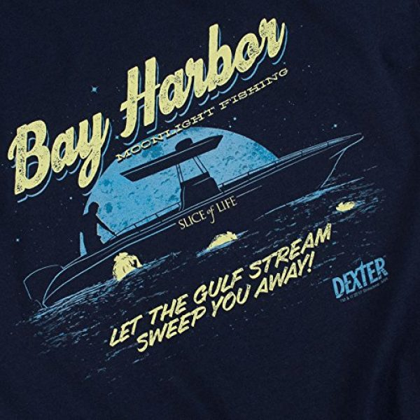 Popfunk Graphic Tshirt 5 Dexter Bay Harbour Moonlight Fishing T Shirt & Stickers