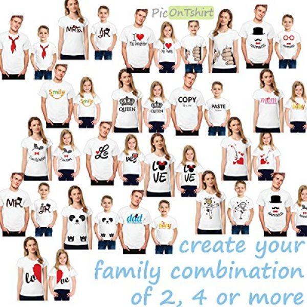 picontshirt Graphic Tshirt 5 Love MM Black Couple T-Shirts