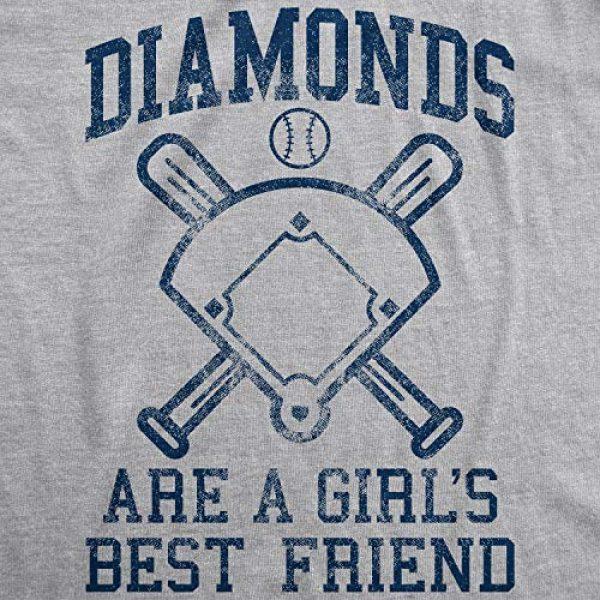 Crazy Dog T-Shirts Graphic Tshirt 2 Womens Diamonds are A Girls Best Friend Tshirt Funny Cute Baseball for Ladies