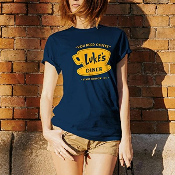 UGP Campus Apparel Graphic Tshirt 5 Luke's Diner - Stars Hollow Coffee Novelty TV Show T Shirt