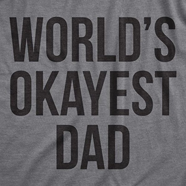 Crazy Dog T-Shirts Graphic Tshirt 2 Mens Okayest Dad T Shirt Funny Sarcastic Novelty Gift for Husband Fathers Day