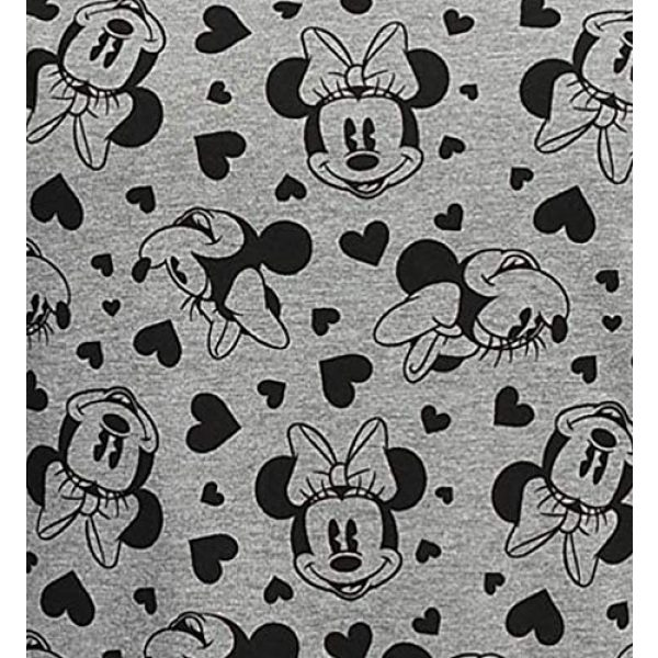 Disney Graphic Tshirt 3 Women's Plus Size T-Shirt Minnie Mouse Hearts All Over Print