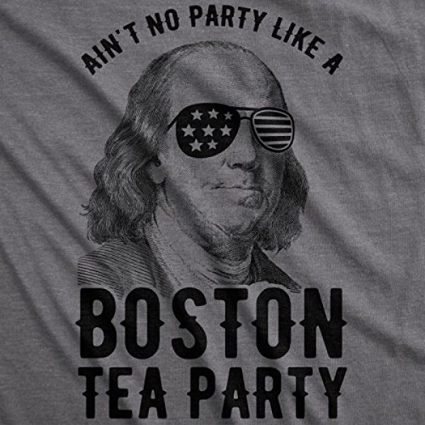 Crazy Dog T-Shirts Graphic Tshirt 2 Womens Aint No Party Like A Boston Tea Party Tshirt Funny 4th of July Tee for Ladies