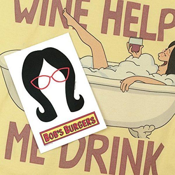Popfunk Graphic Tshirt 6 Bob's Burgers Wine Helps Me Drink T Shirt & Stickers