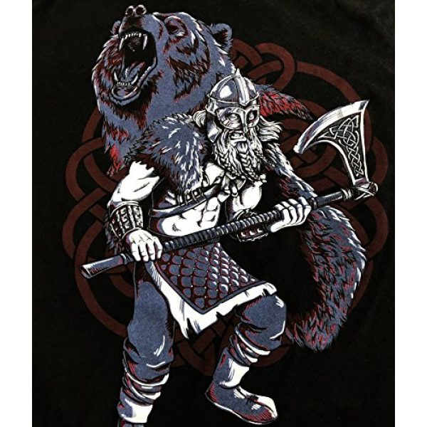 Ann Arbor T-shirt Co. Graphic Tshirt 5 Viking Berserker, Bear Spirit | Valhalla Norse Nordic Mythology Warrior T-Shirt