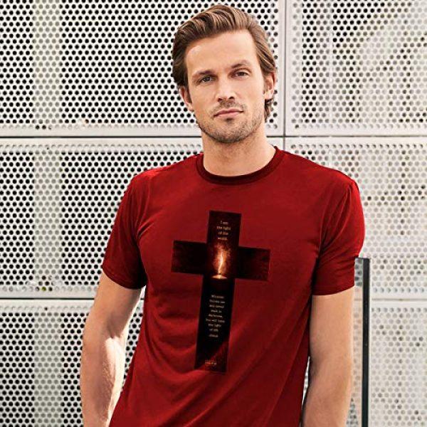 Kerusso Graphic Tshirt 3 Men's Light of The World Cross T-Shirt - Cardinal -