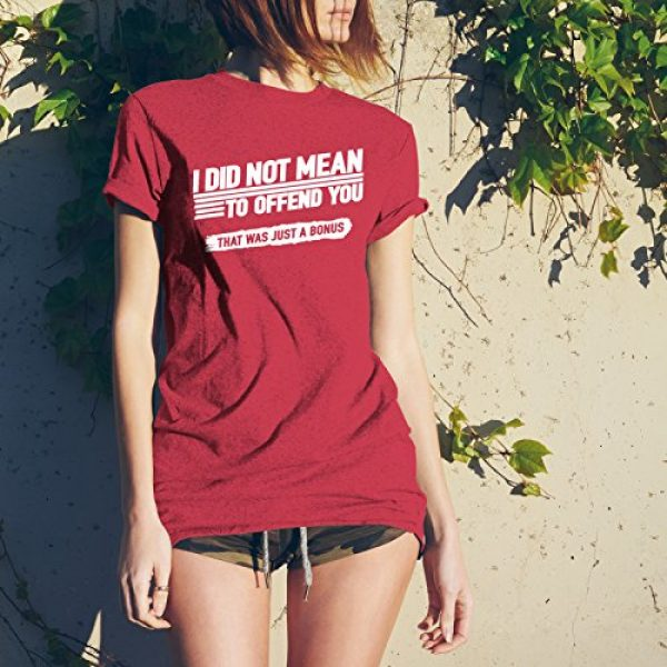 UGP Campus Apparel Graphic Tshirt 5 Mens Funny T Shirt I Did Not Mean to Offend You That was Just A Bonus T-Shirt