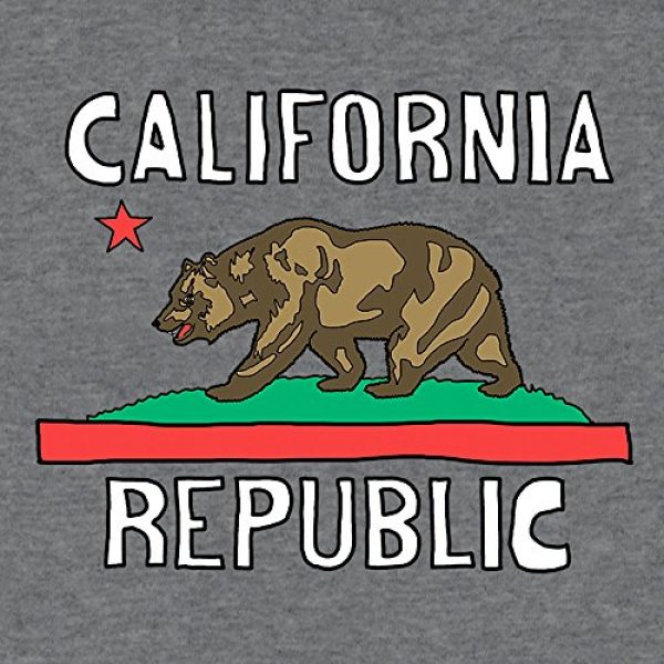 Tee Luv Graphic Tshirt 2 California Republic T-Shirt - California Bear Flag Shirt