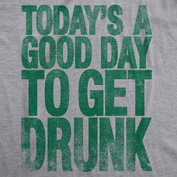 Crazy Dog T-Shirts Graphic Tshirt 2 Mens Good Day to Get Drunk Funny Drinking Beer Saint Patricks Day St T Shirt