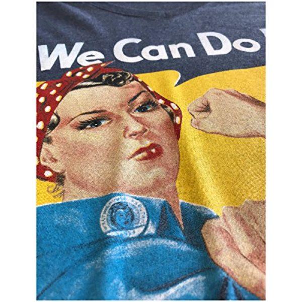 Ann Arbor T-shirt Co. Graphic Tshirt 5 Rosie The Riveter, We Can Do It   Feminist Rosey Rosy V-Neck T-Shirt for Women