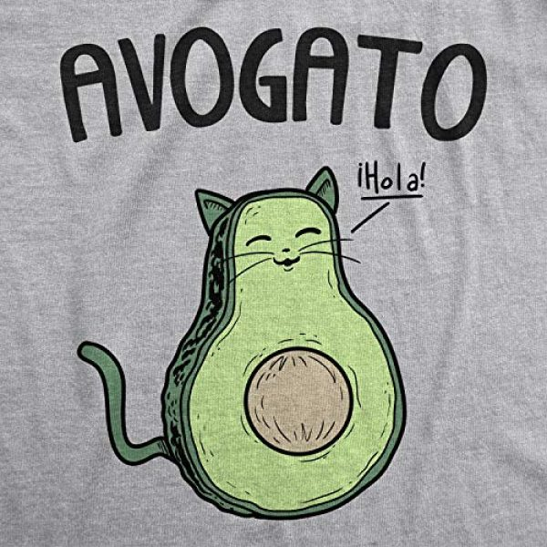 Crazy Dog T-Shirts Graphic Tshirt 2 Womens Avogato Funny T Shirt Avocado Cat Cute Face Graphic Novelty Tee for Girls