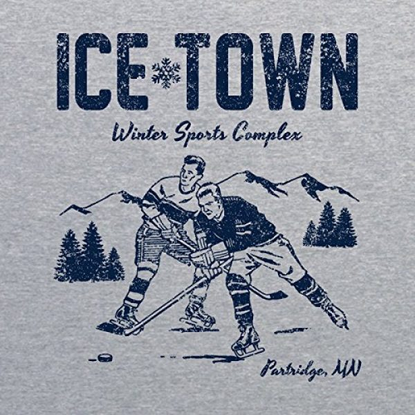 UGP Campus Apparel Graphic Tshirt 2 Ice Town - Funny TV Ben Winter Sports Complex Parody T Shirt